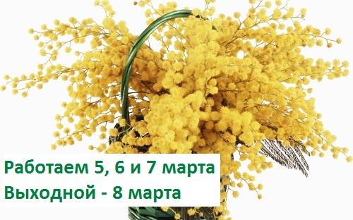 Скидка 8% в магазине на Ленинском 5, 6, 7 марта!